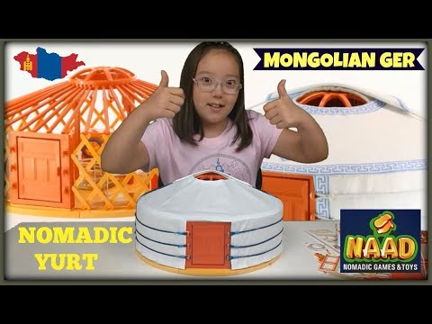 UNBOXING MONGOLIAN GER - NOMADIC YURT - NAAD BRAND MIMO GER