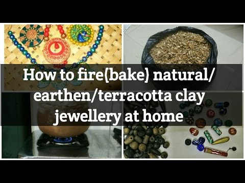 Clay Jewellery- How to fire/bake earthenware clay articles-Terracotta jewellary