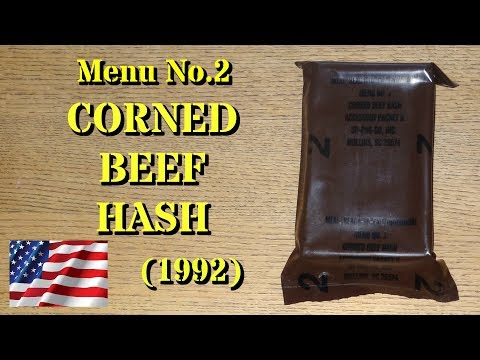 Vintage MRE Review: 1992 Menu No.2 -- Corned Beef Hash