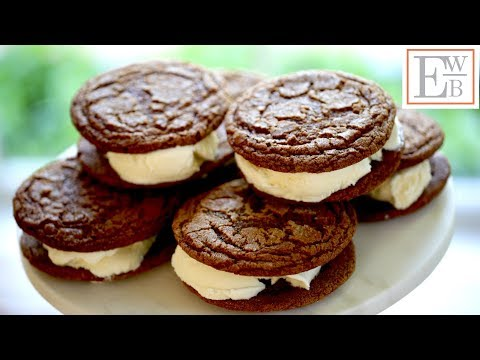 Beth's Ginger Molasses Ice Cream Sandwiches | ENTERTAINING WITH BETH