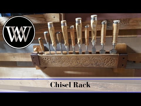 Making a Chisel Rack Holder or Till | Hand Tool Woodworking Storage
