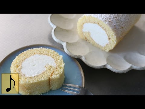 How to make Cream filled Swiss Roll 【1 Minute Cooking】