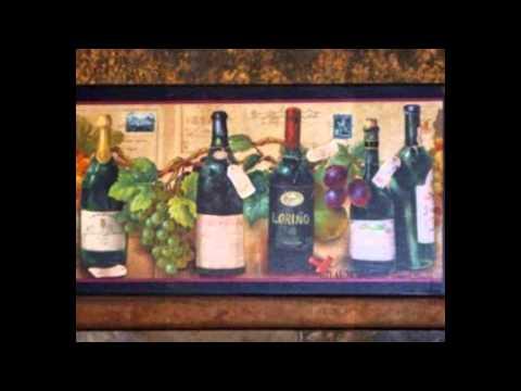 grape decorated wine bottle - cheap grape and wine kitchen decor