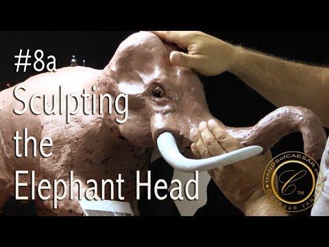 #8a How to sculpt an Asian Elephant head - head proportions