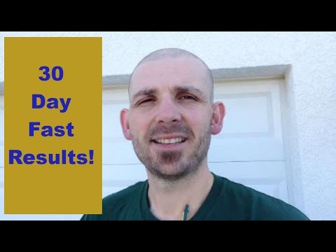 How much weight did I lose after a month of fasting? - 30 day fast results