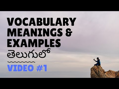 Learn Vocabulary in Telugu using this method | Vocabulary in Telugu - Live Coaching Day 1