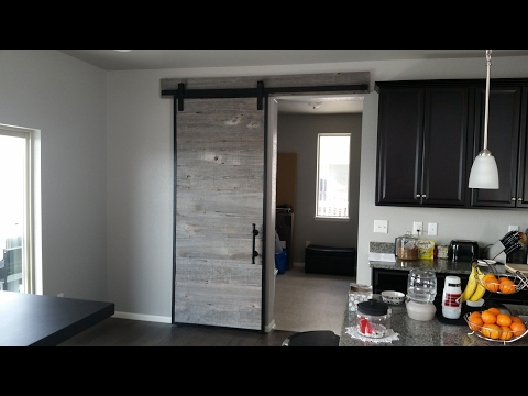 Building a Barn Door Using Reclaimed Barn Wood in a Steel Frame