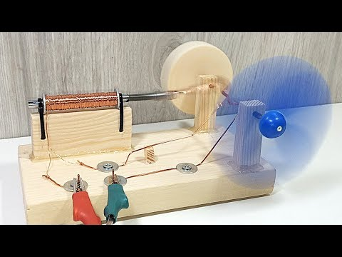 Easy Experiment Science Project Electric Motor - How To Make
