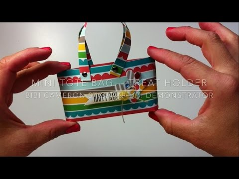 How to make a small paper purse / tote bag  by Bibi Cameron