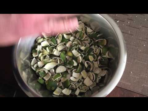Steam Distilling Lime Peel