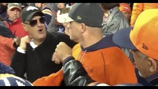 Broncos Fan Sucker Punches Another Fan In The Stands!