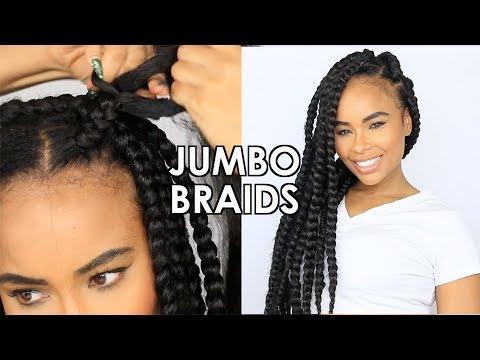 How to:   Jumbo Box Braids Tutorial