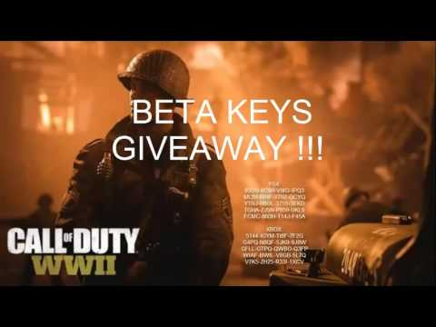 Call of Duty WW2 BETA KEYS FOR FREE - GIVEAWAY