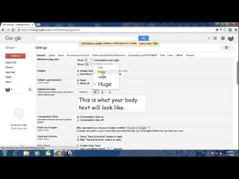 how to change font size, font color, font style in gmail