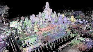 Generation of the 3D model of the Bayon Temple and Its applications
