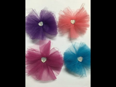DIY How to make Tulle Flower's Quick and Easy
