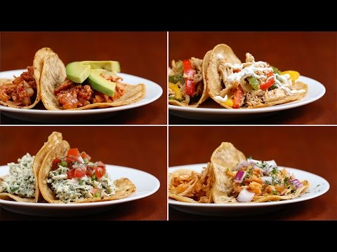 Chicken Tacos 4 Ways