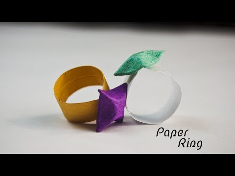How to make a paper Ring - Origami Ring - Paper Crafts