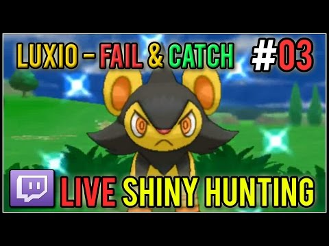 [Live] Shiny Luxio Fail & Catch | Live Shiny Hunt #03 | Pokemon X/Y
