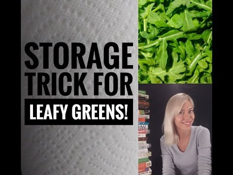 Keep your leafy greens fresh longer with this easy storage trick!