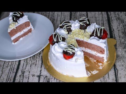 Strawberry Cake | Strawberry Cake Recipe Without Oven | How To Make Strawberry Cake Without Oven
