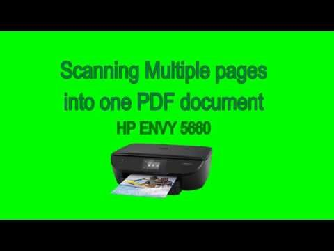HP Envy 5660 - Scanning multiple pages to a PDF document