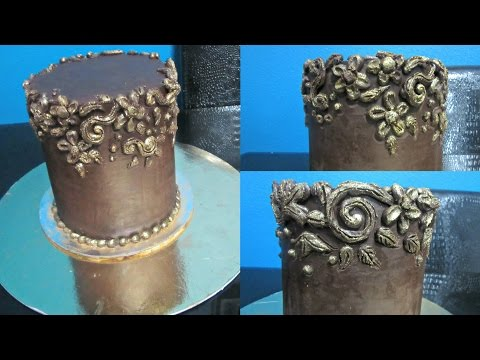 Carved Ganach Cake  كيك جاناش الشوكولاته المنحوت