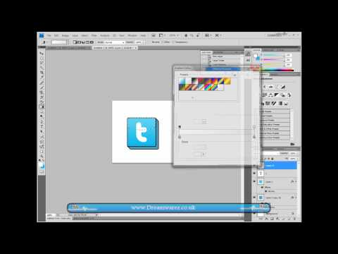 Photoshop Tutorial - 3D Twitter Icon For Your Site/Blog