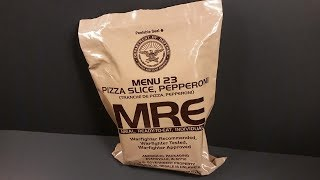 2018 MRE Pepperoni Pizza MRE Review Meal Ready to Eat Ration Taste Testing