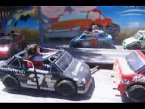 Riding Race Car at Knotts Berry Farm