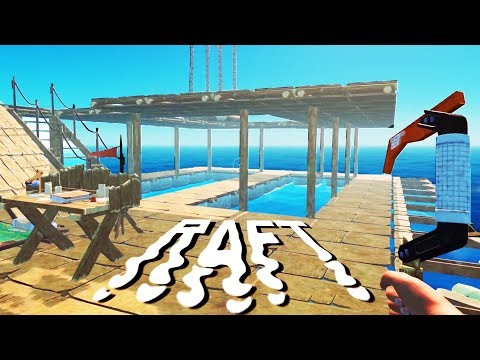 The EPIC TREE FARM and SECOND FLOOR! - SHARK ATTACKS and Raft Building - Raft Gameplay