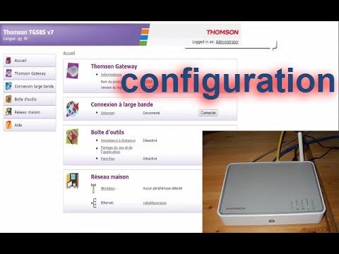 configurer routeur THOMSON TG585 v7 a maroc telecom