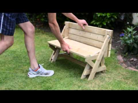 Childrens/Kids folding bench/picnic table combo