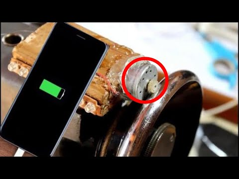 Free Energy Charge Generate With Sewing Machine