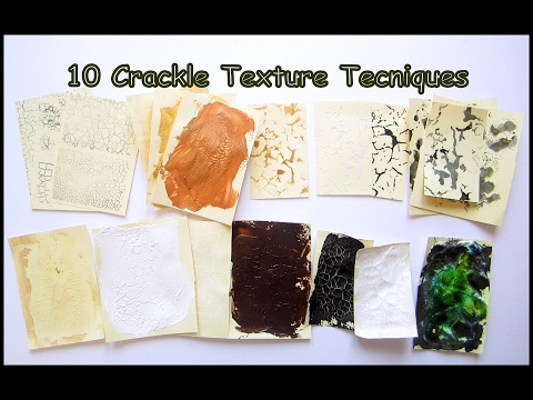 How to make crackle texture- 10  Mixed Media Techniques- Art Hacks