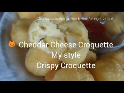 Eggless Cheese Croquette Recipe (olive pieces added in the cheese)