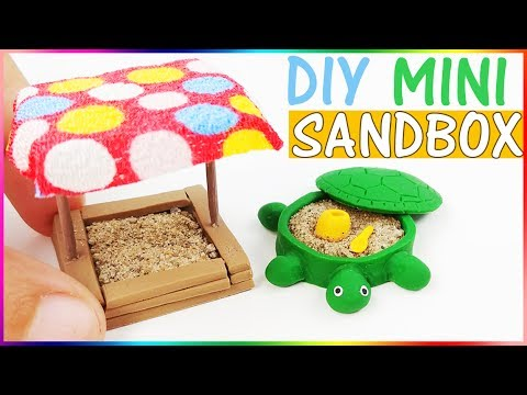 HOW TO MAKE MINIATURE SANDBOX DIY CRAFT Polymer clay tutorial dollhouse