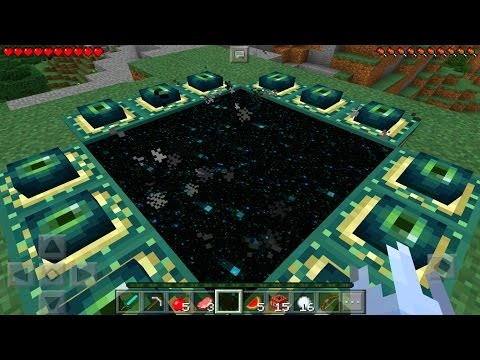 Minecraft Pe - How To Make A End Portal The Easy Way - Minecraft Pocket Edition!!!