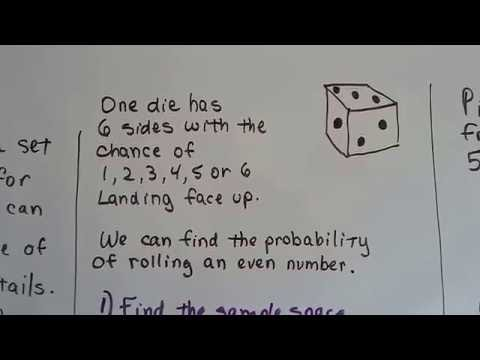 Grade 7 Math #12.1b, Probability and sample space