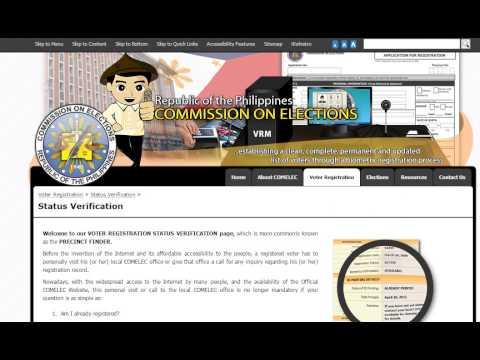 Philippine COMELEC Precinct finder www.comelec.gov.ph