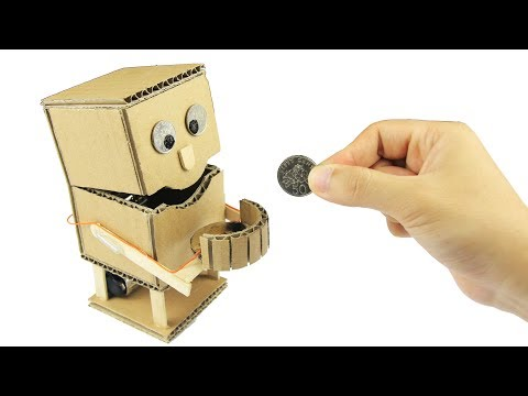 How to Make an Robot Piggy Bank with measurements - Just5mins