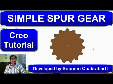 How to model spur gear in creo | Soumen Sir