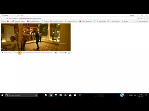 how to add video to html web page USING HTML.