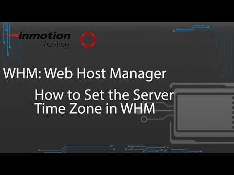 How to Set the Server Time Zone in WHM