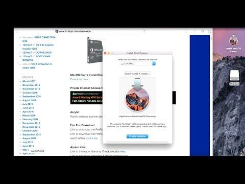 Create Macos Sierra Install USB