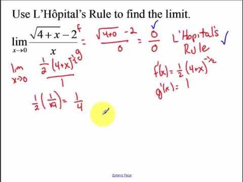 9.2 - L'Hopital's Rule (2017)