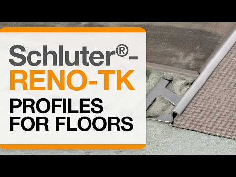 How to install a tile transition on floors: Schluter®-RENO-TK