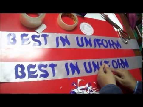 How to make Plastic Ribbon Sash  by Ana Berou