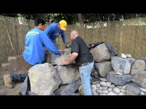 How to build a Fish Pond - Part 12 | Waterfall Construction (4 of 4)
