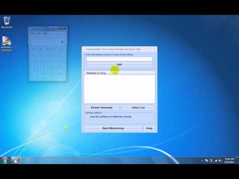 How To Use Automatically Close Popup Windows By Name Software